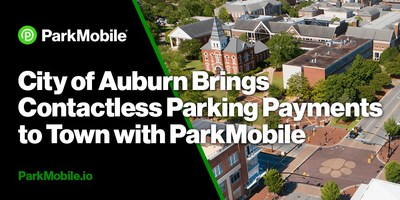 The partnership with ParkMobile helps with Auburn's plan to expand contactless parking payment options throughout the city.